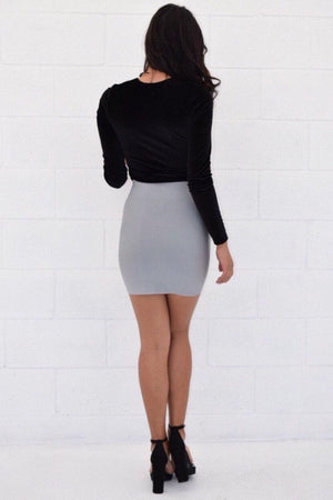 Thalia, Grey bandage mini skirt - Dimesi Boutique