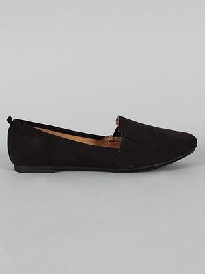 Rosalba, Black Canvas Flats - Dimesi Boutique