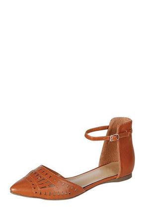Pointed flats with ankle strap - Dimesi Boutique