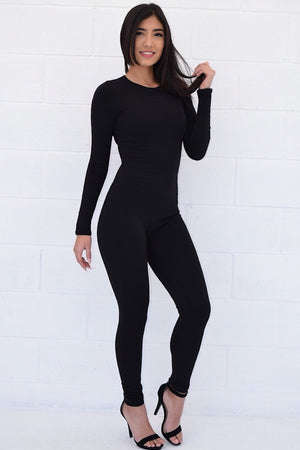 Abelle, Long sleeve black jumpsuit - Dimesi Boutique