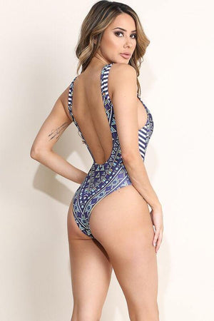 Penelope, Printed Swimsuit - Dimesi Boutique