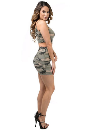 Janyne, Camo mini skirt - Dimesi Boutique