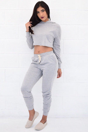 Kylie, Set with Crop Hoodie