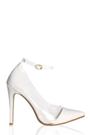 Olga, Pointed heels with clear side - Dimesi Boutique