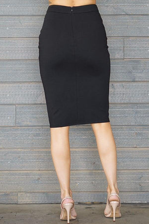 Laura, Black slit skirt