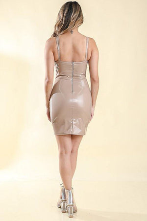 Beatriz Latex Nude Dress - Dimesi Boutique