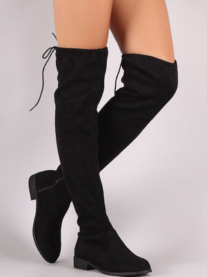 Oksana, Thigh high suede boots - Dimesi Boutique