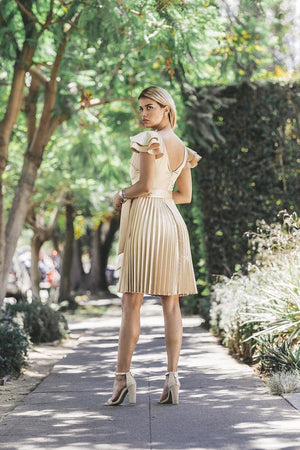 Chanel, Gold Pleated dress - Dimesi Boutique