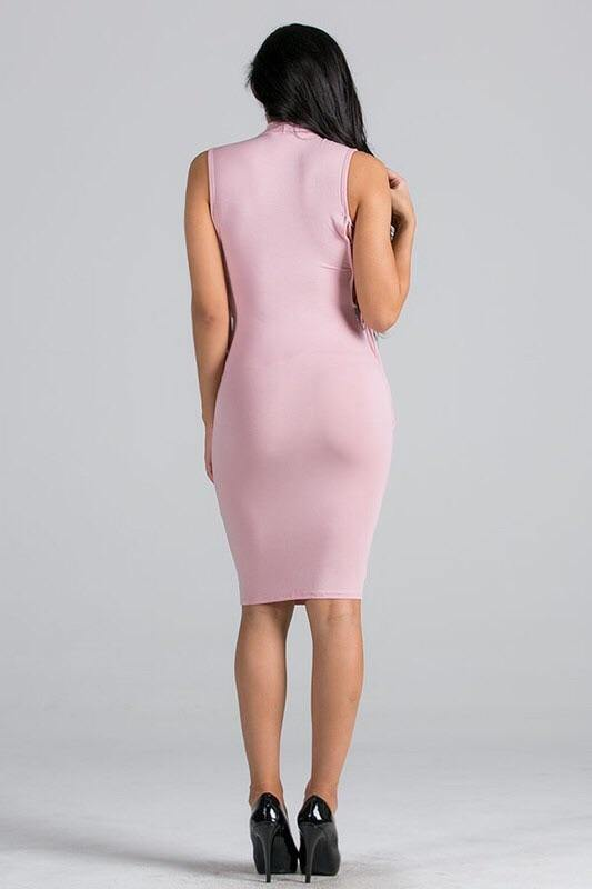 Marlene pink dress open on the sides