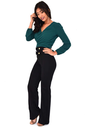 Carli, high rise pants - Dimesi Boutique