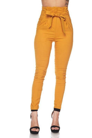 Penny, High Rise Mustard Pants