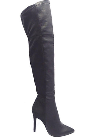 Thigh high pointy toe boots - Dimesi Boutique