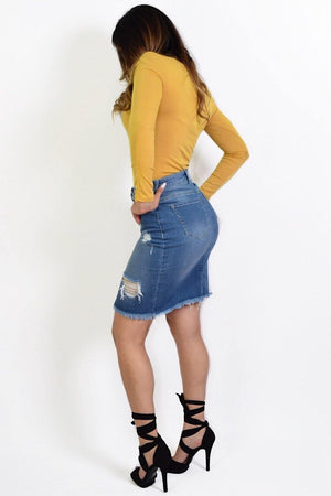 Emmy Denim Skirt - Dimesi Boutique