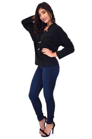 Melia, Black Sweatshirt