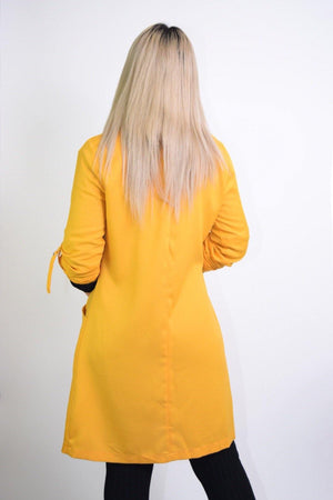 Priscilla, Long Sleeve Mustard Coat