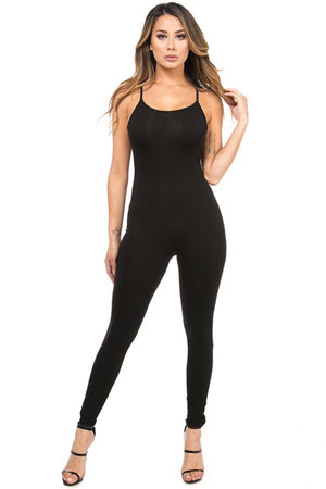Black Spaghetti strap jumpsuit - Dimesi Boutique