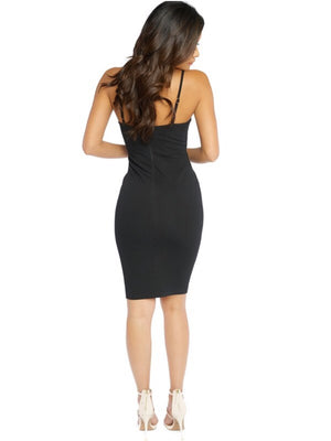 Midi dress with front tie up corset - Dimesi Boutique