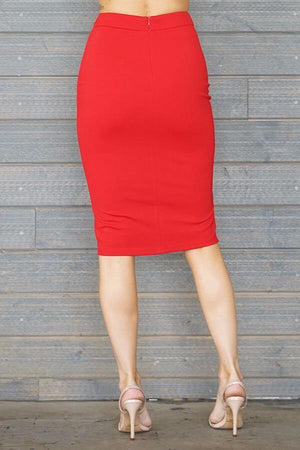 Laura, red slit skirt - Dimesi Boutique