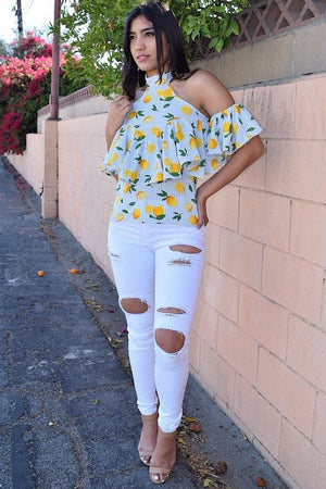 Belinda White High Waist Jeans - Dimesi Boutique