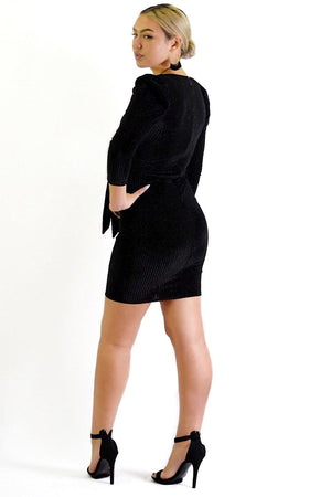Ruby, black sparkly dress - Dimesi Boutique