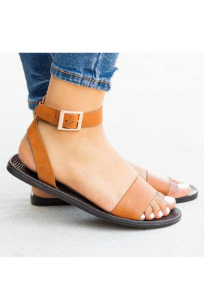 Moondance-04: Tan sandals with One band strap