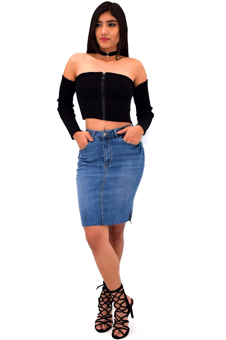 Devina Denim Skirt