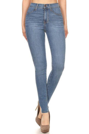 Michelle high-waist medium blue skinny jeans