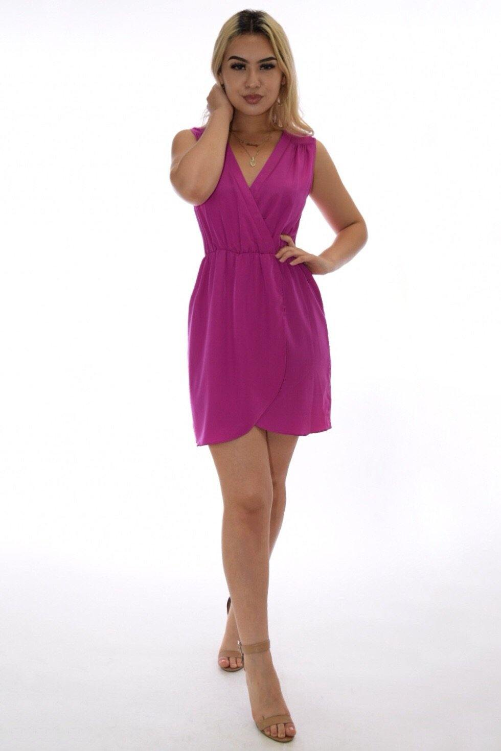 Miriam pop color magenta summer dress