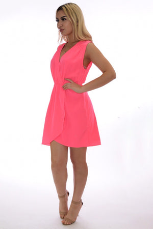 Miriam pop color hot pink summer dress - Dimesi Boutique