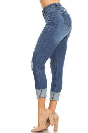 High waist destroyed jeans - Dimesi Boutique
