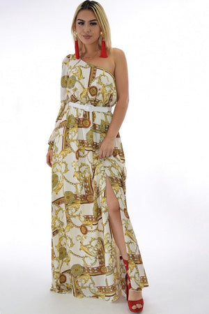 Sandra, one shoulder maxi dress - Dimesi Boutique