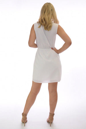 Miriam pop color white summer dress - Dimesi Boutique