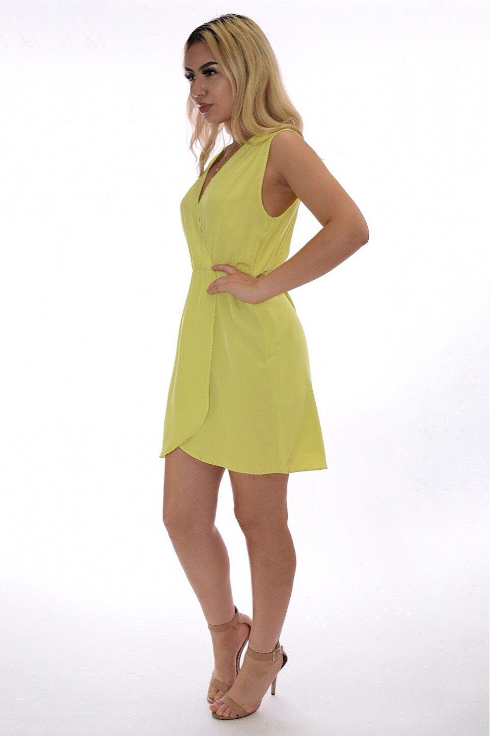 Miriam pop color yellow-green summer dress