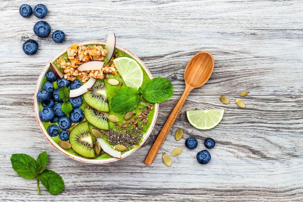 Matcha Superfood Smoothie Breakfast Bowl