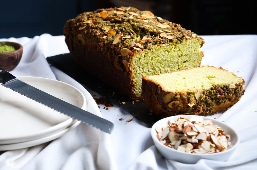 Matcha Almond Bread