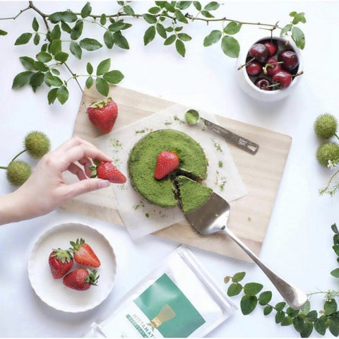 Image of matcha powder cheese cake