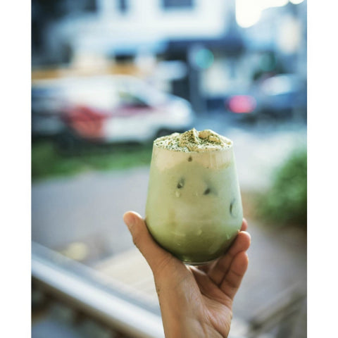 Image of matcha smoothie