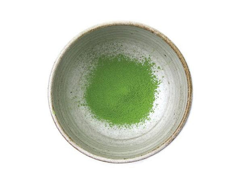Matcha bowl with matcha powder