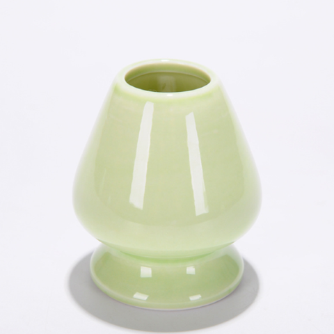 Image of green matcha whisk holder
