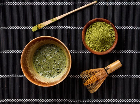 Traditional matcha tea set