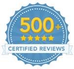Image of 500+ 5 Star Reviews