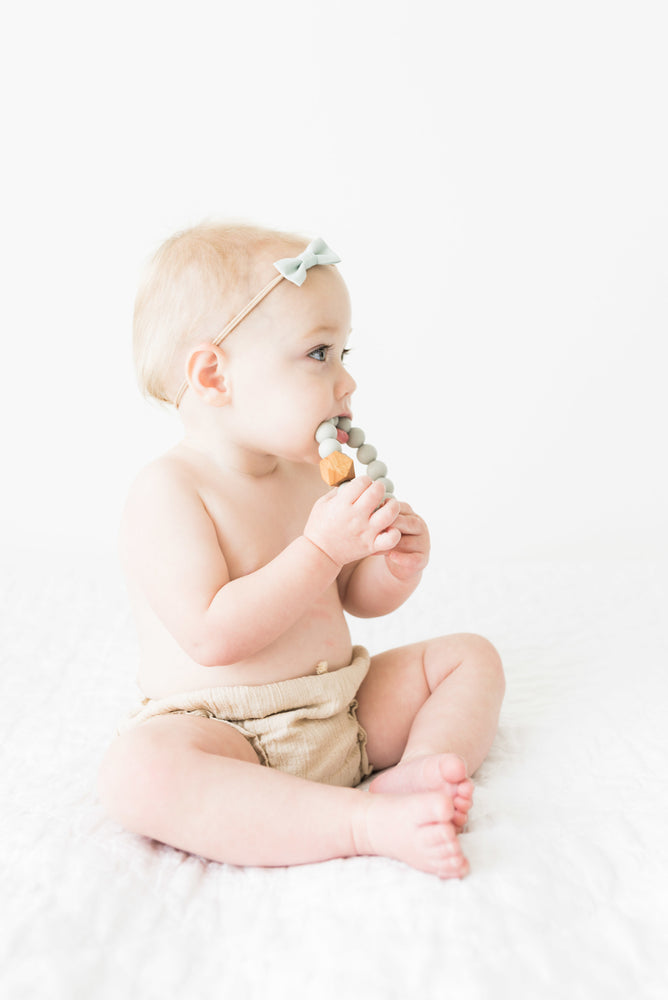 Forest Silicone + Wood Teether Ring