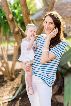 The Nathan- Olive Teething Necklace