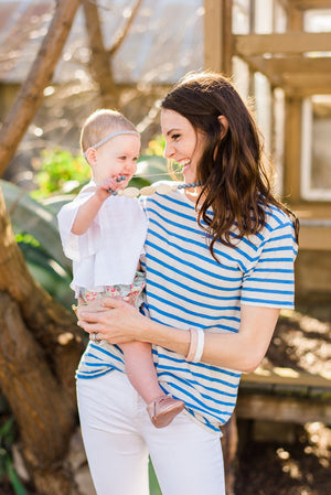 The Avery- White Teething Bracelet