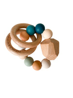 Hayes Silicone + Wood Teether Ring- Summer