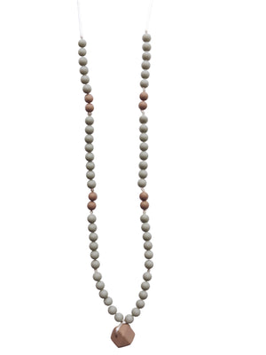 The Sheppard- Grey Teething Necklace