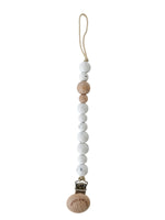 Classic Pacifier Clip - Wood +Moonstone