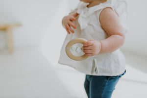 Load image into Gallery viewer, Dreamcatcher Silicone + Wood Teether - Moonstone
