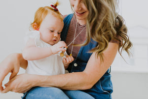 The McKenzie Moonstone Teething Necklace