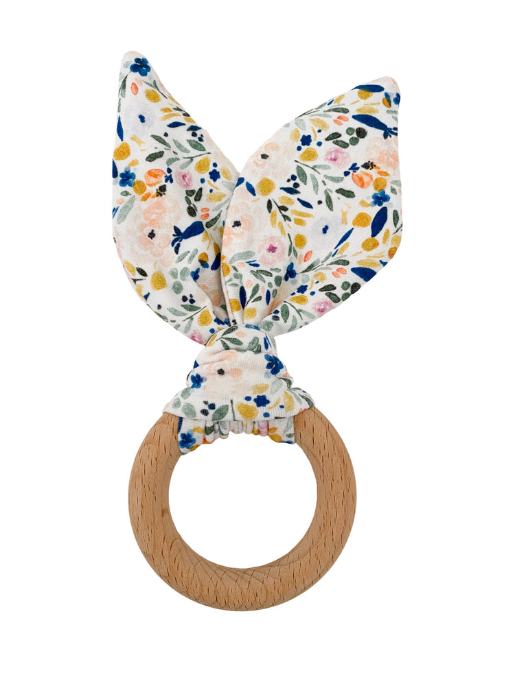 Crinkle Bunny Ears Teether- Floral